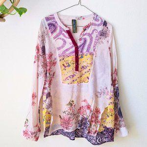 Aratta Silent Journey Heart Beat Floral Tunic • M